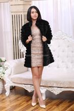 Ladies Long Sleeves Mink Fur Coat / Black Mink Fur Jacket / Mink Fur Vest
