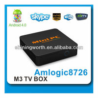 1080p full hd gigabit network media player mini android tv box smart mini pc android 4.2
