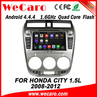 WECARO High Quality Newest Pure Android 4.4.4 Car DVD Player For Honda City Multimedia 2008 - 2011 1.5L