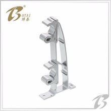 single curtain rod bracket in metal