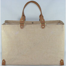 jute bags with leather handles