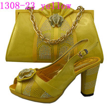 2014 new arrival italian matching shoes and bags/ wholesales cheap price ladies shoes and matching bags/ matching shoes and bags