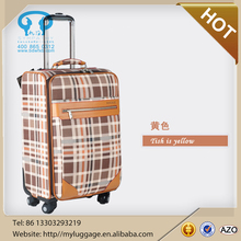 High quality Lightweight Leather Luggage with Spinner Wheels