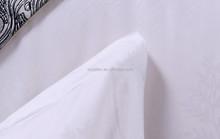 100% cotton Chinese famous brand luxury hotel white jacquard bedding set