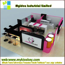 Simple style mall design nail bar of modern nail salon furniture