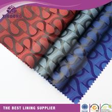 lining fabric for leather bag/handbag 100% polyester jacquard lining fabric