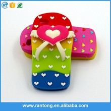 colorful slipper mobile phone case with popular 3d images cute silicone case for iphone