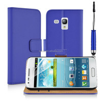Top Quality 100% Real Leather Pocket Stand Card Slots Phone Case For Samsung Galaxy S3 Mini i8190