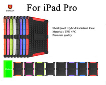 For ipad Pro case 2 in 1 shockproof Rugged armor TPU PC hybrid kickstand combo case for iPad Pro