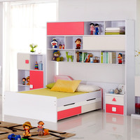 kids furniture study table and chairs children furniture bed with book shelf Italian design