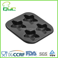 Non-Stick Carbon Steel 4 Cups Star Shaped Muffin Pan