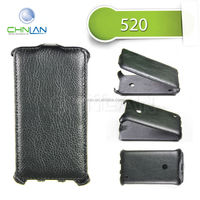 2014 Business Style Thermoforming Flip Leather Case for Nokia Lumia 520 New Design Mobile Phone Pouch