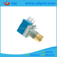 YH jiangsu 9mm metal bushing dual gang motor rotary 12v potentiometer for guitar