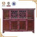 meubles antiques chinois en bois de pin rouge quatre porte de placard
