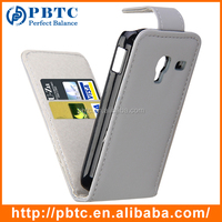 Set Screen Protector Stylus And Case For Samsung Galaxy Ace Plus S7500 , Gray Leather Smartphone Wallet