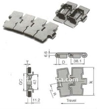 steel hinge type flattop chain for LD SS812 from hebei liancheng company
