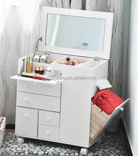 Bedroom furniture folding solid wood mirrored dressing table