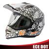 Full face motocross helmet with visor