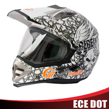 Full face motocross helmet with visor