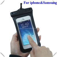 hot sale pvc waterproof bag for mobile phone,fit for iphone&Samsung,waterproof case