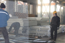 Galvanized steel frame with expanded metal mesh