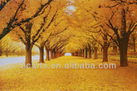 Pure hand-painted high quality oil painting autumn woods natural scenery painting home decor