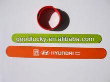 Custom slap band wide slap bracelet for promotion