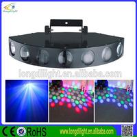 Hot Sell DMX512 Nine Channel Red Green Blue White Yellow Seven Lens Laser Dance Lighting