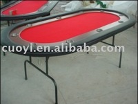 10player oval Poker Table with folding iron leg