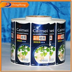 Shampoo Label Packaging,Clear Waterproof Shampoo Labels