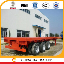 40 Tons Capacity China 3 axle 40'' container flat bed semi-trailer factory manufacturer