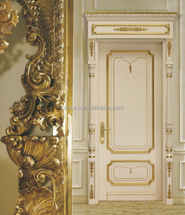 European style wood framed decorative entrance door with for European entry doors