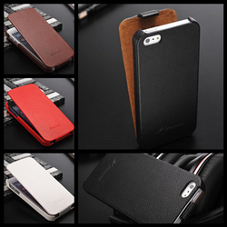 For Iphone 5 5S Fashioable Flip Genuine Leather Universal Flip Phone Case
