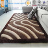 factory price polyester silk 3d shaggy carpet and rug