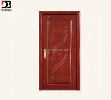 interior solid wooden single door designs