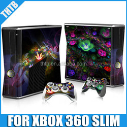 For Xbox360 slim vinyl skin sticker and 2 new controller skins
