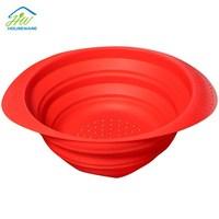 As seen on tv 2015 kitchen silicone basket foldable fruit basket