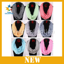 2014 new Printing multi-color Chevron infinity scarf