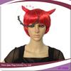 short fashion bob style halloween red ox horn wig