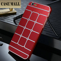 Grid lines metal back case for iphone 6, for iphone 6 4.7inch Supporting 50pcs mix colors