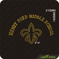 Fashinable Clothing Decorated With Henry Ford Middle School strass motif hotfix rhinestone design