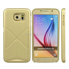 New product for galaxy s6 used mobile phone wholesale dubai leather cover case metal bracket