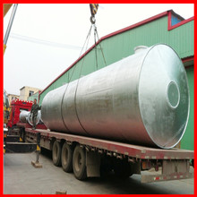 no chemical used mix black oil purifying stainless steel boiler and distillation