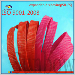 ISO9001-2008 factory heat resistant flame retardant sleeving expandable color pet