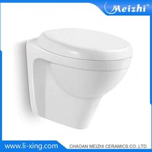 Wall hung bathroom china toilet with concealed tank