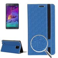 Maze Pattern Wallet Style Book Leather Case for Samsung Galaxy Note 4