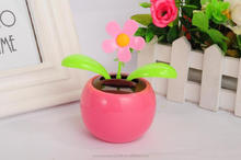 plastic dolls factory solar powered swing flip flap dancing flowers, car decorative gift sun doll factory wholesale