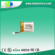 IEC62133 UL approved customized capacity 3.7v rechargeable battery 100mah