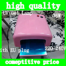 2013 Professional Nart Art 36W UV Lamp Light GEL Curing Nail UV Lamp Dryer 36w Gel Curing Nail + 4 x 9w Tube Light Bulbs Rose