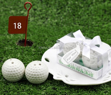 Top quality Wedding Decoration Gift of Golf Ball Salt and Pepper shakers For Wedding Gift Favors